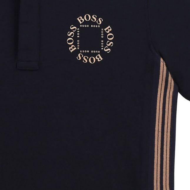Boys Navy Triple Gold S/s Polo Shirt