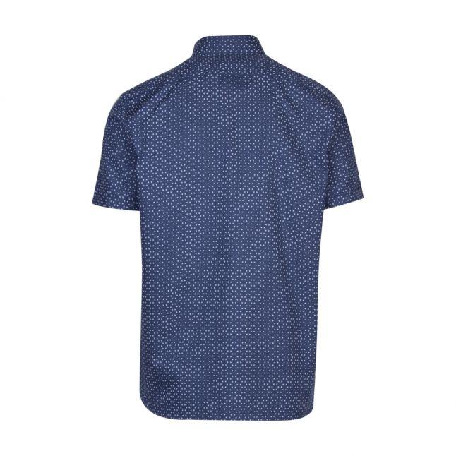Mens Blue Mathew Triangle S/s Shirt