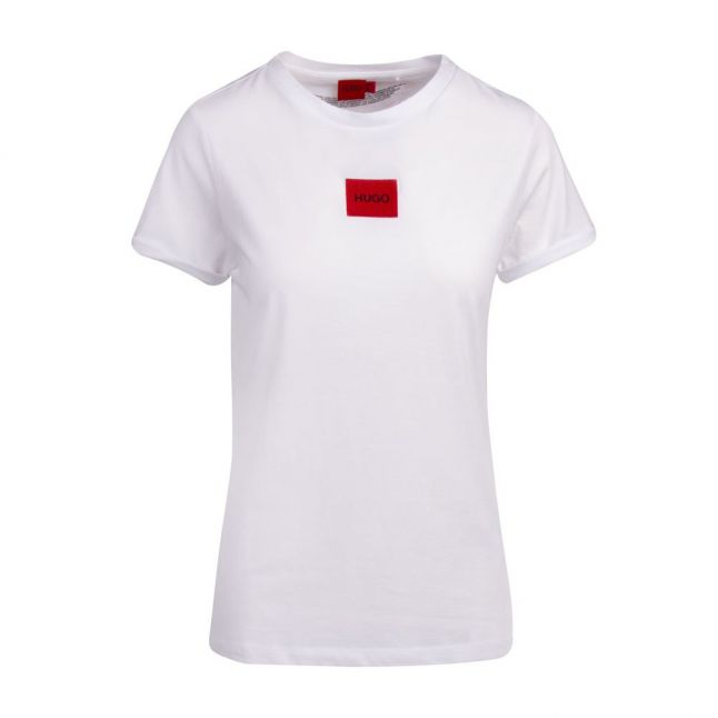 Womens White The Slim Tee Patch S/s T Shirt