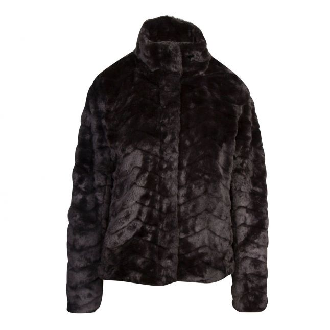 Womens Black Vialiba Faux Fur Jacket