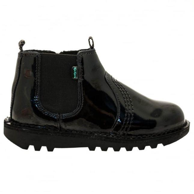 Junior Black Patent Leather Kick Chels (12.5-2.5)