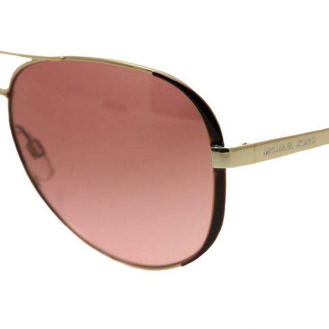 Womens Gold & Dark Chocolate Brown Chelsea Sunglasses