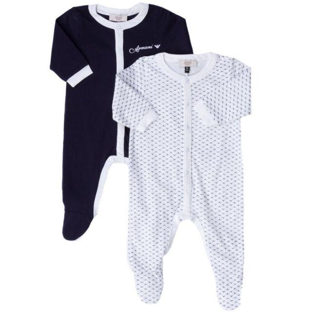 Baby Navy 2 Pack Babygrow Set