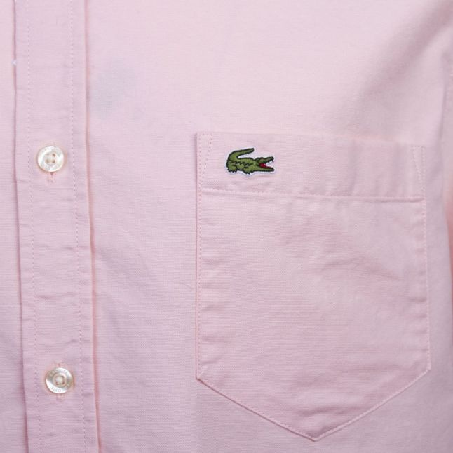 Mens Pink Oxford S/s Shirt