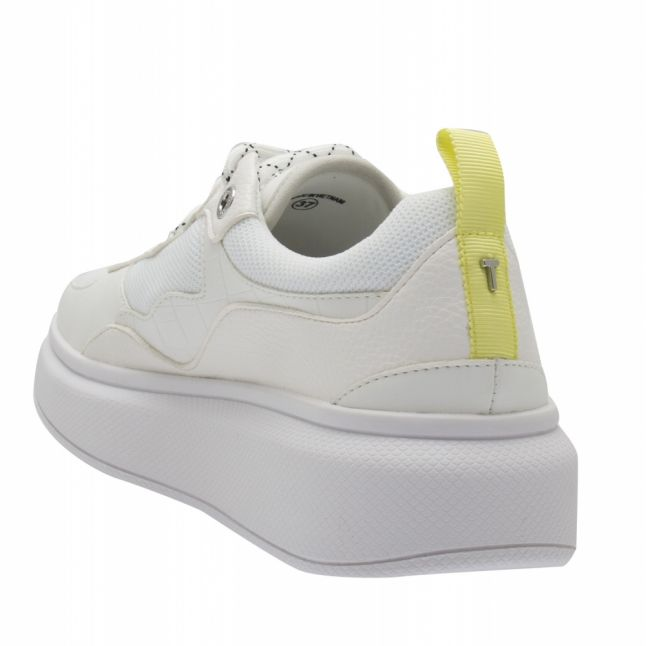 Womens White Arellia Platform Sole Trainers