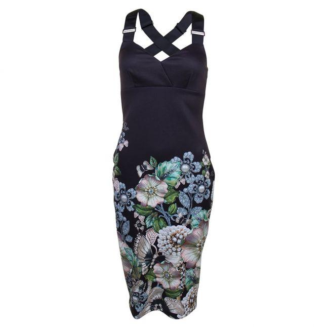 Womens Black Jayer Gem Gardens Dress