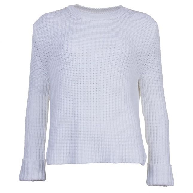 Lifestyle Womens White Clove Hitch Knitted Jumper