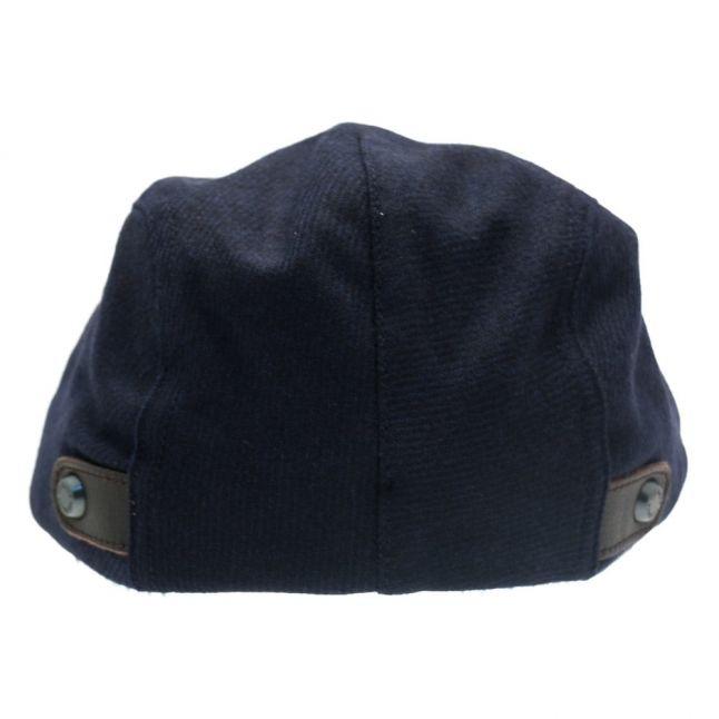 Mens Navy Chipper Flat Cap