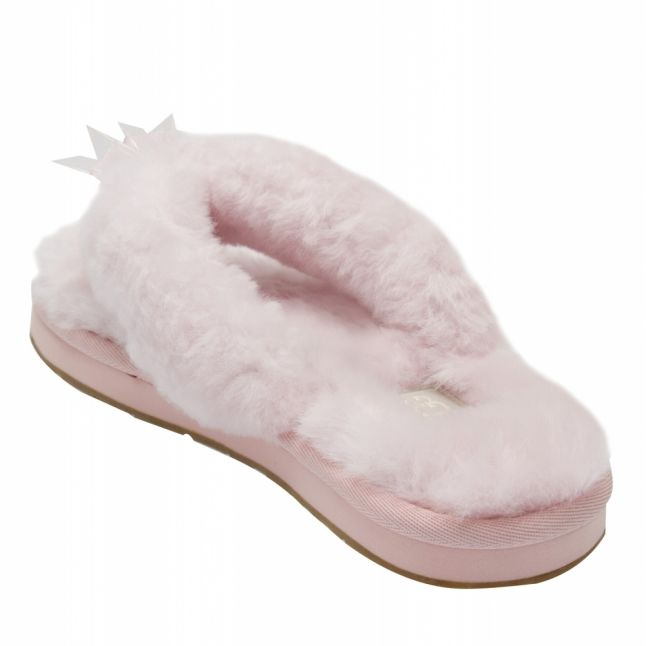 Womens Seahell Pink Fluff Flip Flop III Slippers