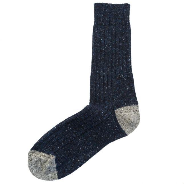 Lifestyle Mens Navy & Grey Houghton Socks