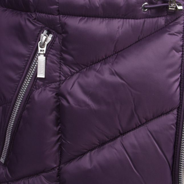 Womens Tempest Purple Island Hooded Quilted Jacket