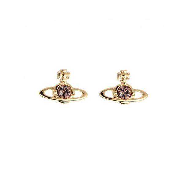 Womens Gold & Light Topaz Nano Solitaire Earrings