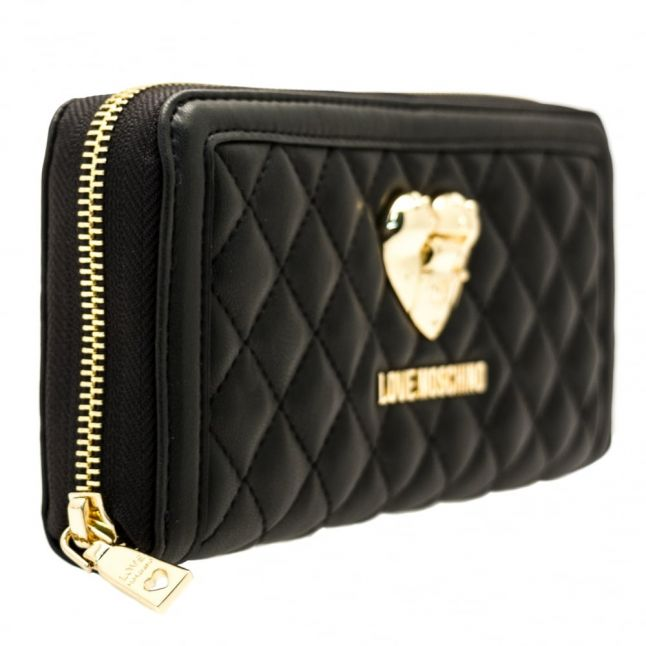 Womens Black Quilted Purse