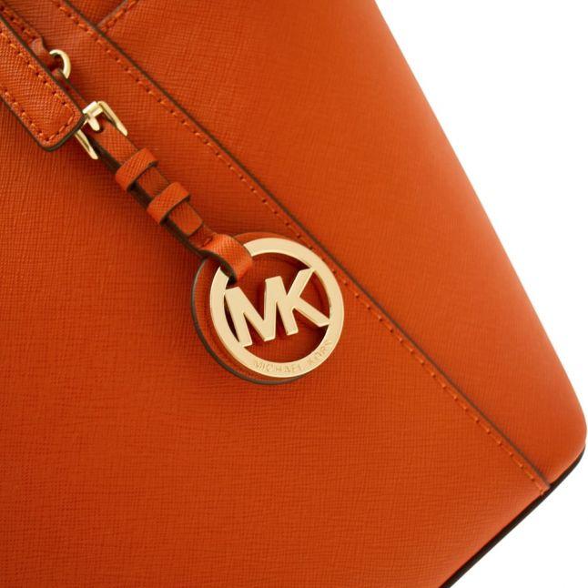 Womens Orange Jet Set Top Zip Tote Bag