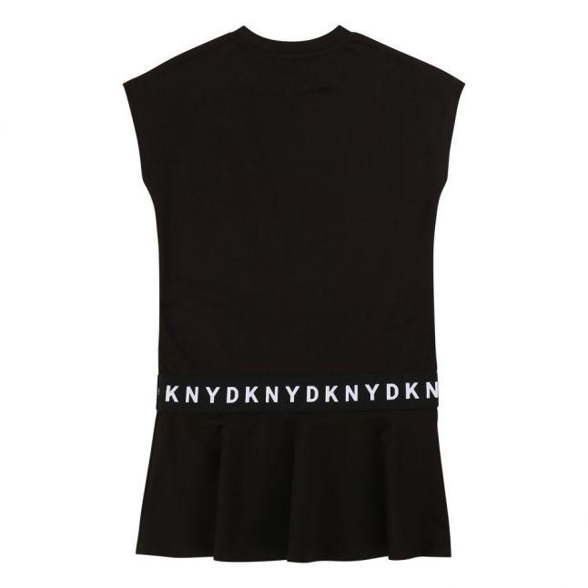 Girls Black Logo Tape Skater Dress