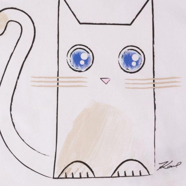 Baby White Kitten L/s Tee Shirt