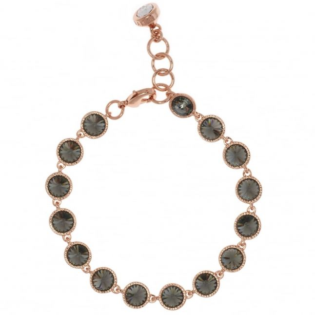 Womens Rose Gold & Black Diamond Raalyn Strand Bracelet