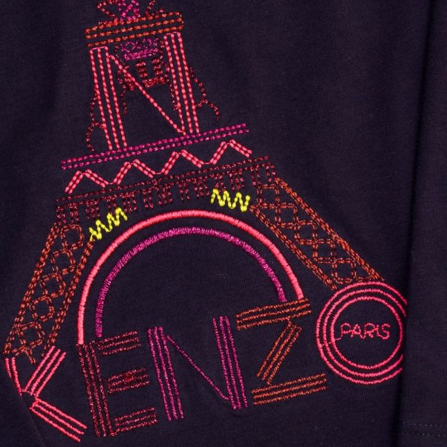 Girls Midnight Blue Azna Tower L/s Tee Shirt