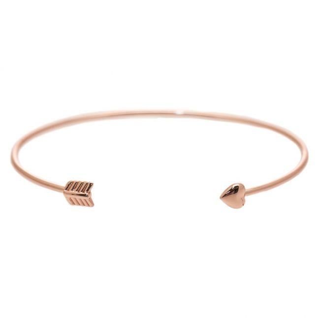 Womens Rose Gold Carise Fine Cuff Bracelet