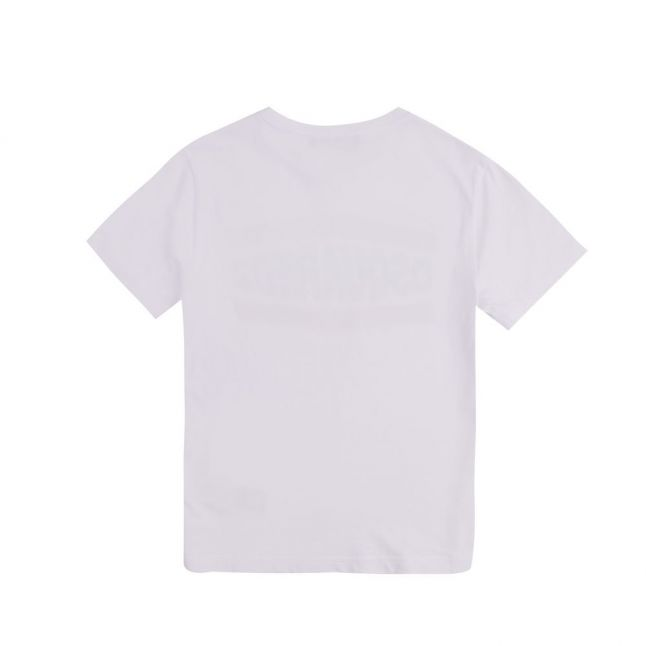Boys White Branded S/s T Shirt