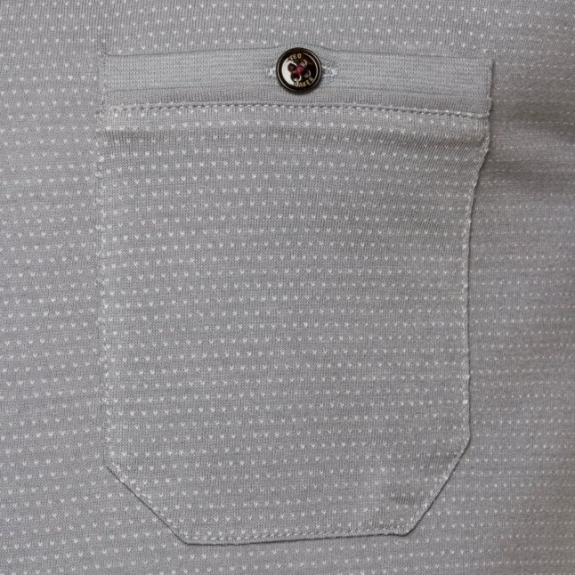 Mens Light Grey Cress Rollback Sleeve Pocket S/s Tee Shirt