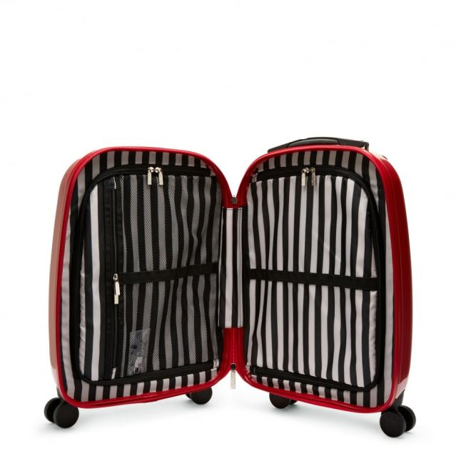 Womens Red Hard Sided Lips Small Suitcase