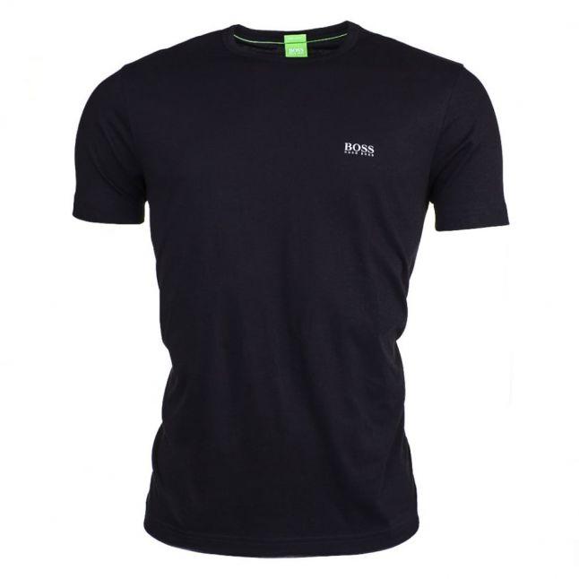 Athleisure Mens Black Tee Small Logo S/s T Shirt