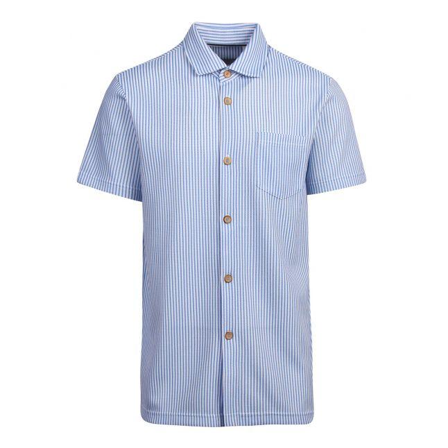 Mens Blue Ramenn Stripe Jersey S/s Shirt