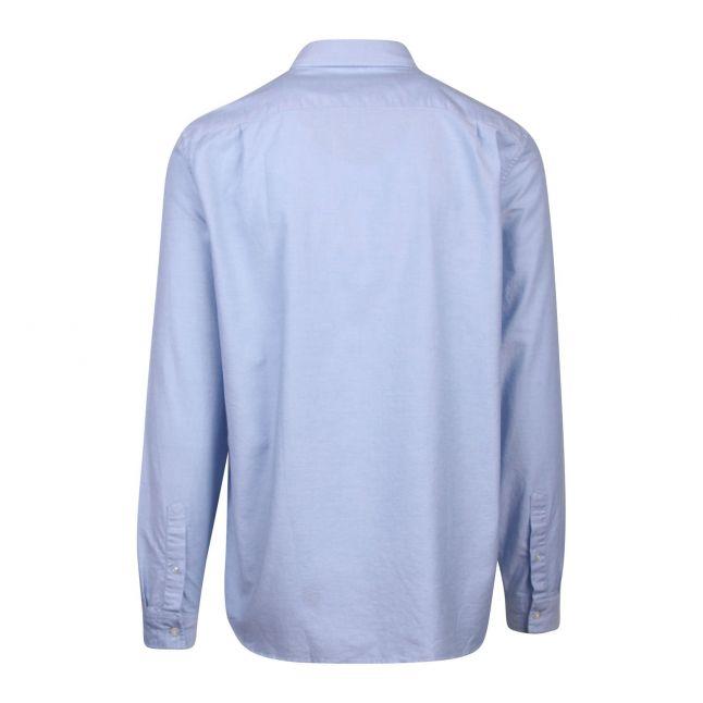 Mens Hemisphere Blue Oxford L/s Shirt