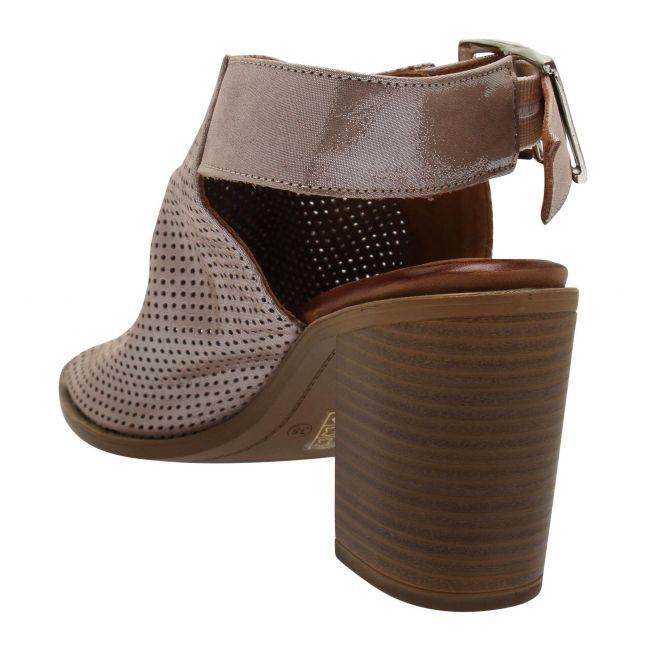 Womens Taupe Metallic Lilaine Heeled Sandals