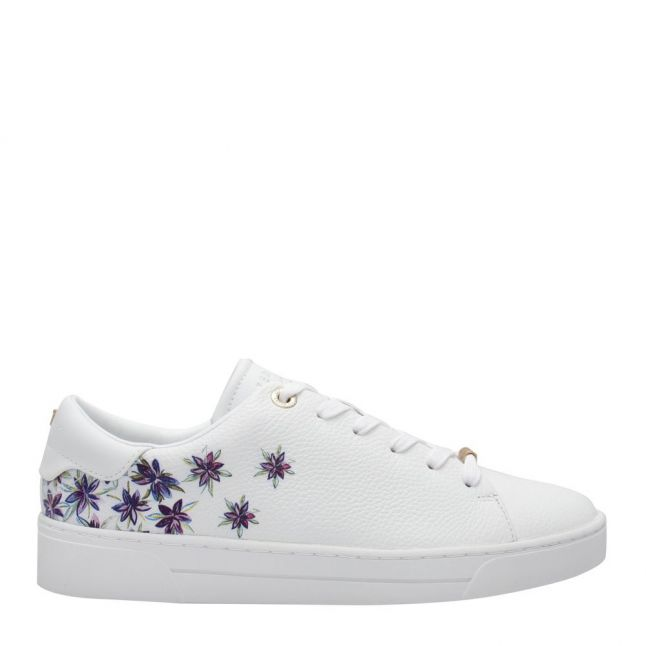Womens White Juniper Leather Trainers