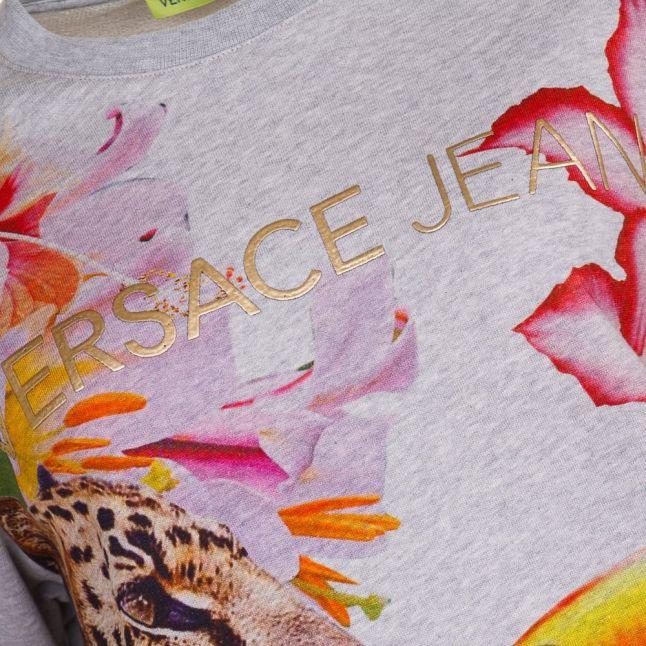 Versace Womens Medium Grey Leo Light Sweat Top