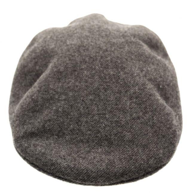 Mens Grey Wool Flat Cap
