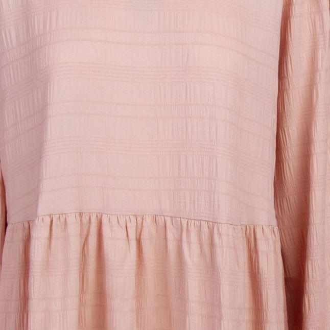 Womens Rose Smoke Visully Crinkle Midi Dress