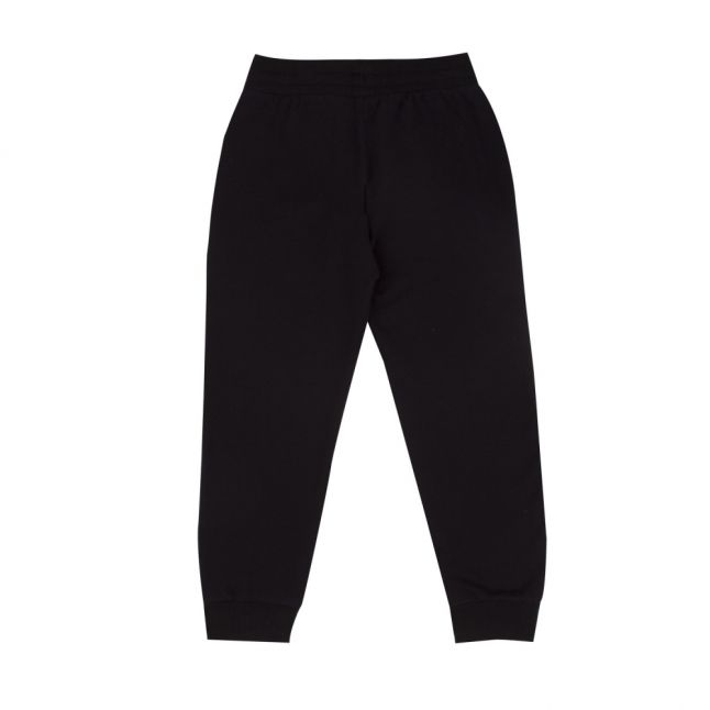 Boys Black Branded Sweat Pants