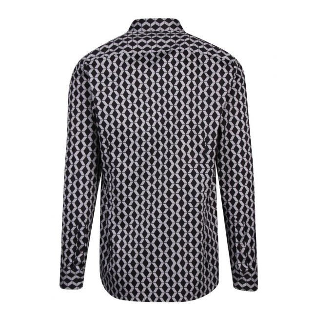 Mens Black Linbal Print L/s Shirt