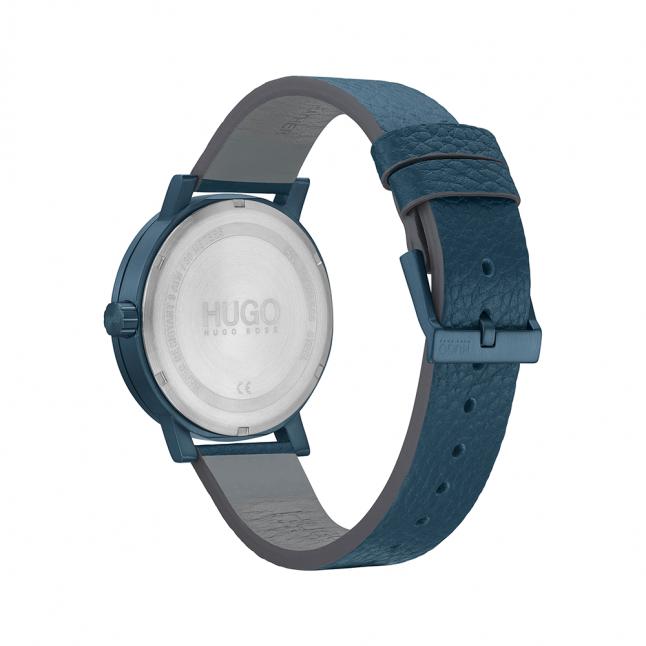 Mens Dark Blue Rase Leather Watch