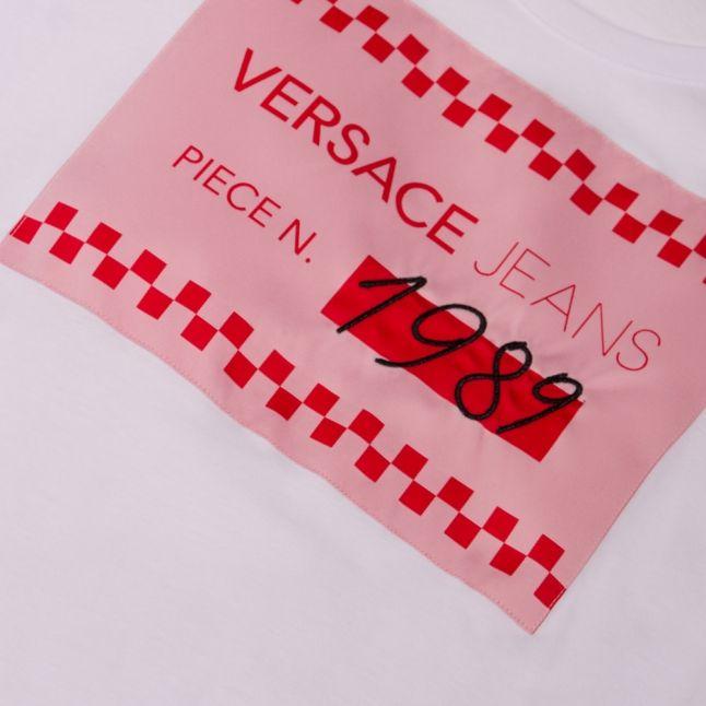 Womens White Heritage Logo S/s T Shirt