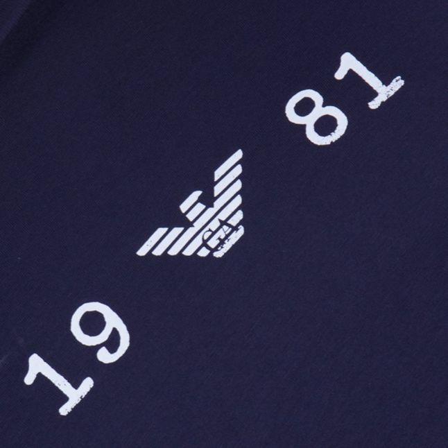 Mens Blue Chest Logo S/s Tee Shirt