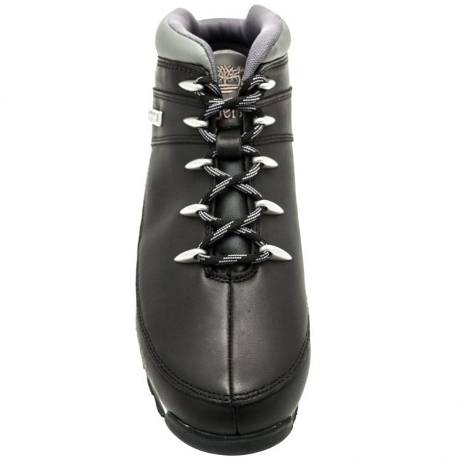 Mens Black Smooth Euro Sprint Hiker Boots
