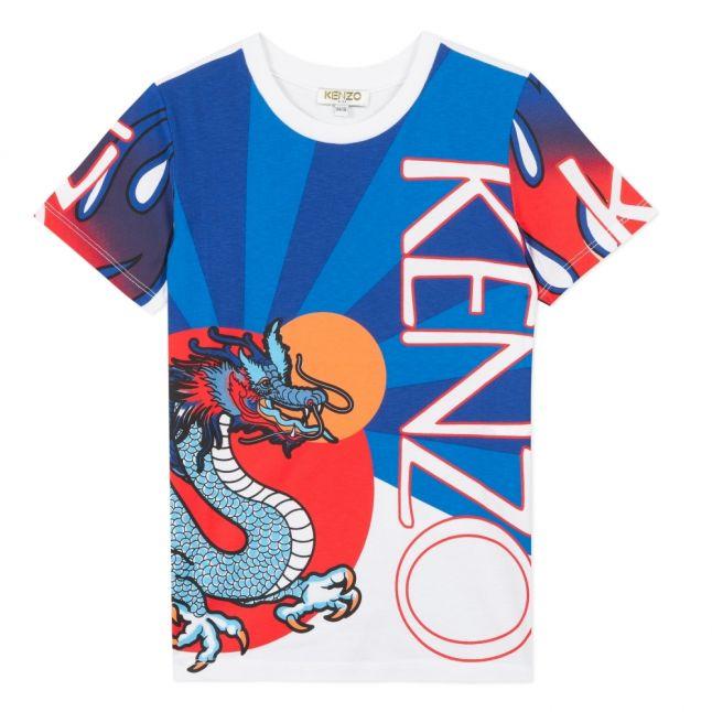 Boys Blue/White Jim Dragon S/s T Shirt