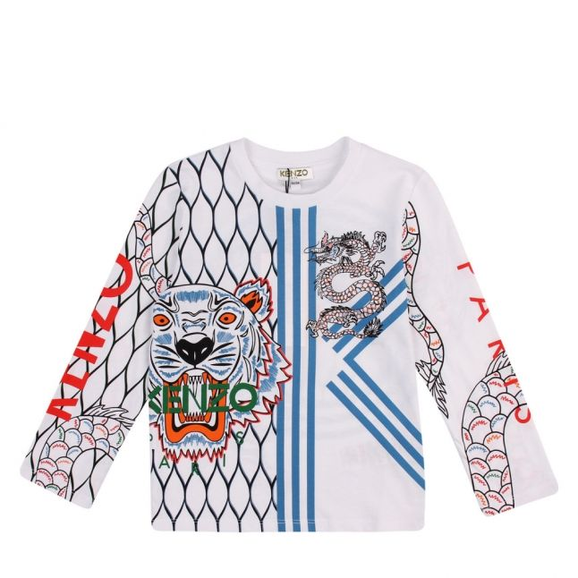 Junior Optic White Gibson Tiger L/s T Shirt