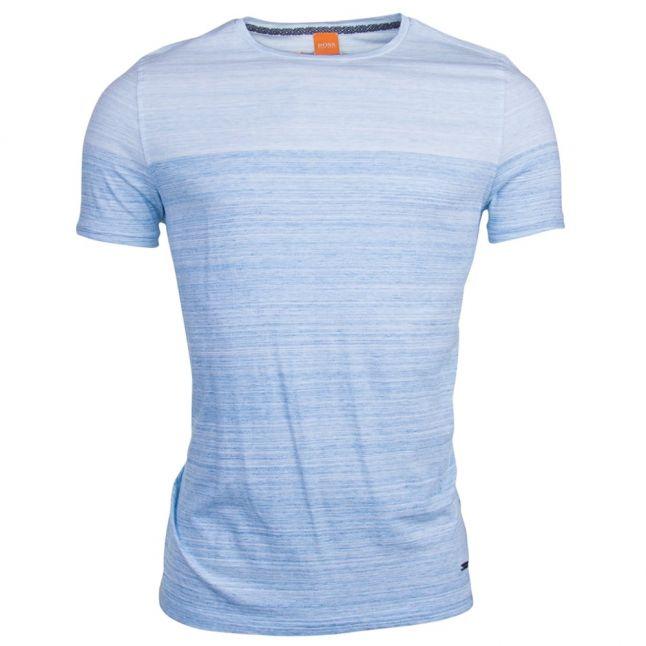 Mens Bright Blue Trumble S/s Tee shirt