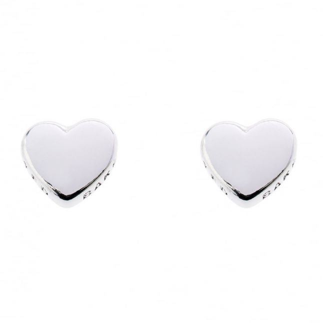 Womens Silver Harly Heart Studs