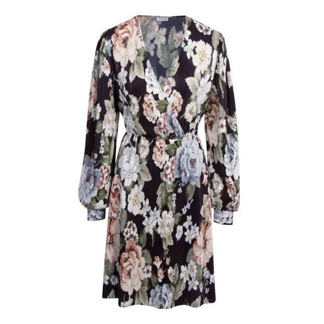 Womens Black Viblamia Plisse Floral Dress