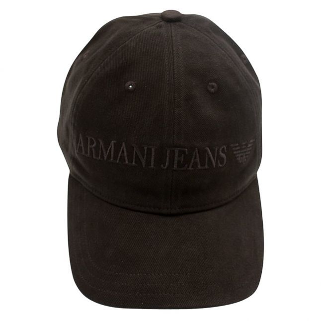 Mens Black Logo Branded Cap
