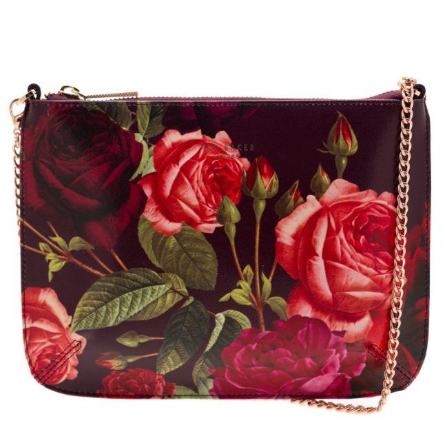 Womens Grape Malisa Juxtapose Rose Cross Body Bag