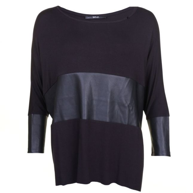 Womens Black Oversized Style Top