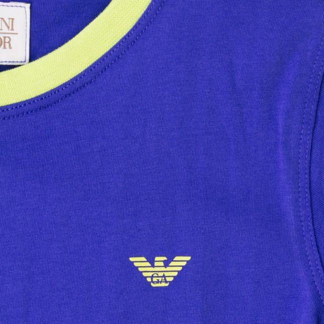 Boys Blue Small Logo S/s Tee Shirt