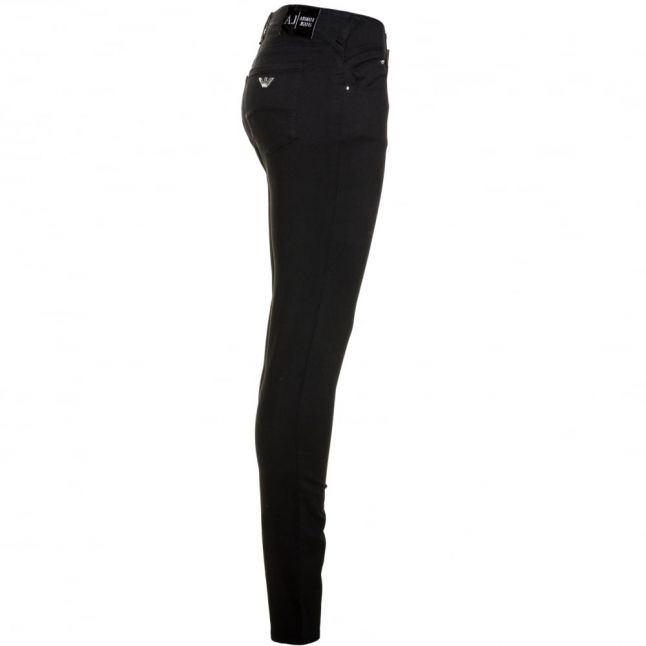 Womens Black Wash J28 Mid Rise Skinny Jeans